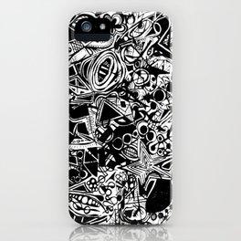 Black/White #1 iPhone Case