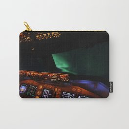 Aurora Borealis inflight Carry-All Pouch