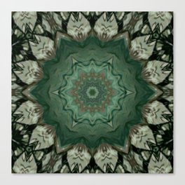 The Green Unsharp Mandala 3 Canvas Print