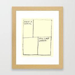 Make A Comic Framed Art Print