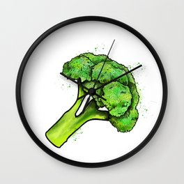 Broccoli Painting Eat Your Veggies Series Wall Clock
