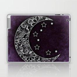 Purple Abstract Moon Laptop & iPad Skin