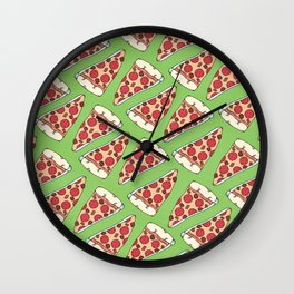 Meaty Pizza Party Wall Clock
