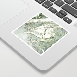 Chaudeleau the Green Marsh Dragon Sticker
