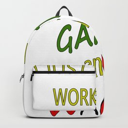 Work in Garden And Drink Wine Backpack