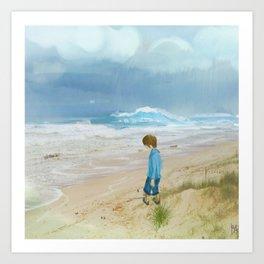 A Boy And His Beach Art Print