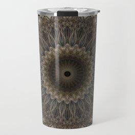 Mandala in warm brown and gray tones Travel Mug