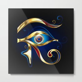 Gold Eye of Horus Metal Print