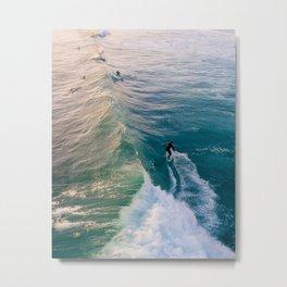 Wave Rider Metal Print