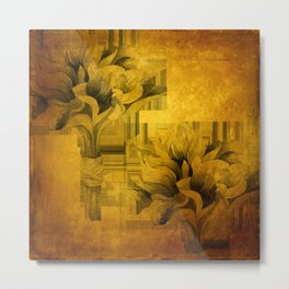 magnolias - grungy Metal Print
