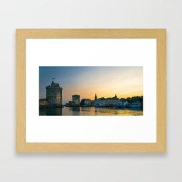 Medieval Towers Of La Rochelle Framed Art Print