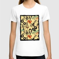 blankets T-shirts featuring Jazz Rhythm (positive) by Chicca Besso