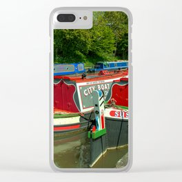 Narrowboats at Devizes Clear iPhone Case