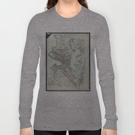 Vintage Map of Seattle Washington (1911) Long Sleeve T-shirt