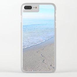 Stroll on the Beach Clear iPhone Case
