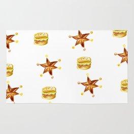 hamburgers and stars Rug