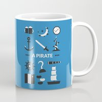 ouat Mugs featuring OUAT - A Pirate by Redel Bautista
