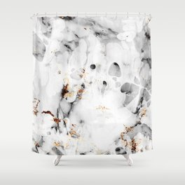 leaf marble Shower Curtain