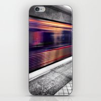 subway iPhone & iPod Skins featuring Subway by Yancey Wells