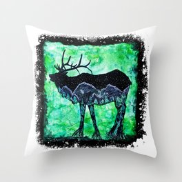 Elk Mountain Throw Pillow