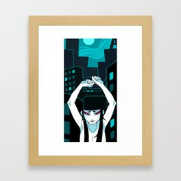 Anime Night Asian  Art Framed Art Print