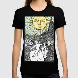 Modern Tarot Design - 19 The Sun T-shirt