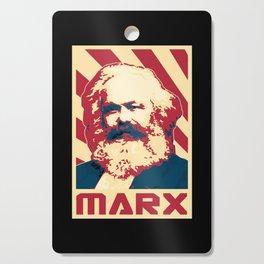 Karl Marx Retro Propaganda Cutting Board