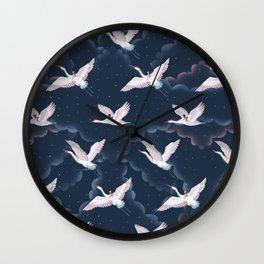 Crane Ladies Night Pattern Wall Clock