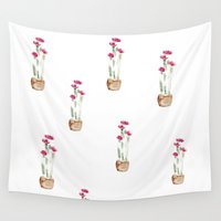 cacti Wall Tapestries featuring Cacti by Aniko Levai