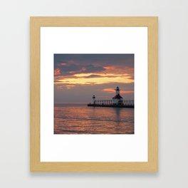 Lingering Light Framed Art Print
