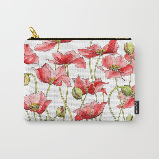 Red Poppies, Illustration by jrosedesign