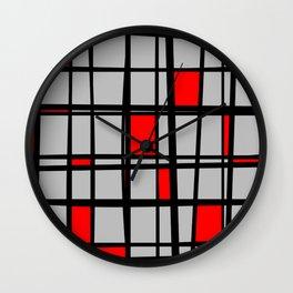 Gridlock - Abstract Wall Clock