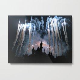 Disneyland Firework Finale Metal Print