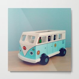 Toy Hippie Van Metal Print