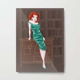 Ms.Scarlett Metal Print