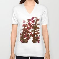 spring V-neck T-shirts featuring spring by bravo la fourmi