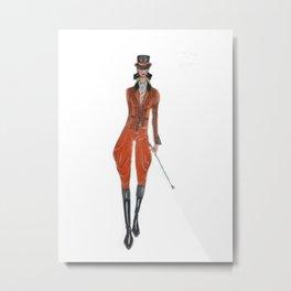 Elegant horserider 2 Metal Print