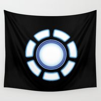 iron man Wall Tapestries featuring IRON MAN by eARTh
