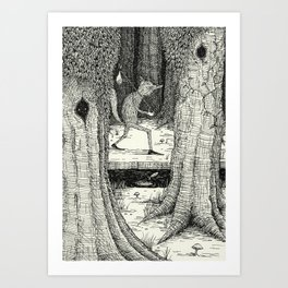 'Through The Forest' Art Print