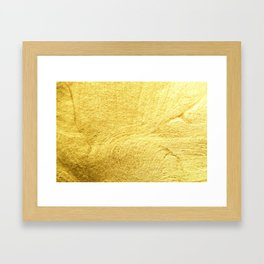 Gold Liquid Framed Art Print