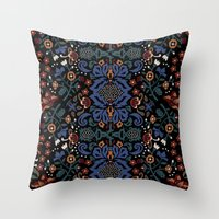 folk Throw Pillows featuring Folk by Pommy New York