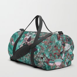 Contrasting Marble Duffle Bag
