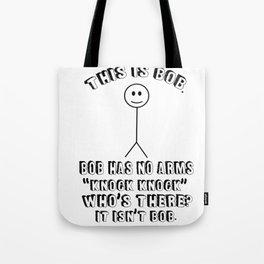 Sarcasm joke knock arms cookies T-Rex gifts Tote Bag