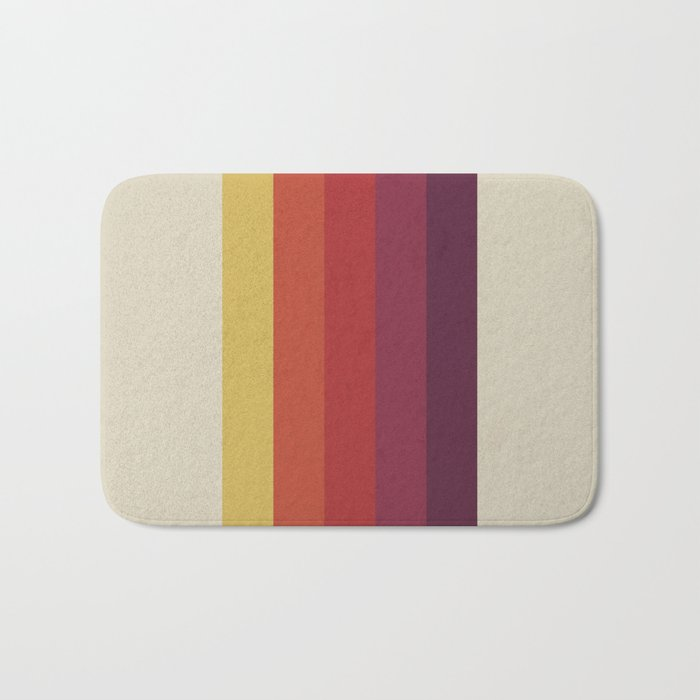 Retro Video Cassette Color Palette Bath Mat By Alisagal