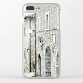 Italian street view 02 Clear iPhone Case