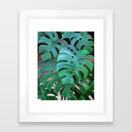 Monstera Love Framed Art Print