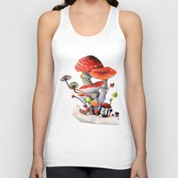 mushrooms Tank Tops featuring Mushrooms by Belle Kim