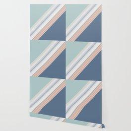 Mint Green Blush Blue Design Wallpaper