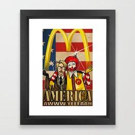 aww yeee america Framed Art Print