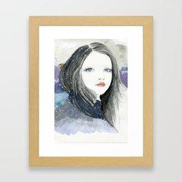 Embracing A Misty Morning Framed Art Print